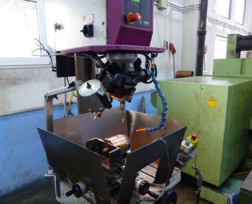 Bohrmaschine mit Revolverbohrkopf