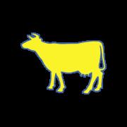 Gelbe Kuh - Gartenmoebel-NRW